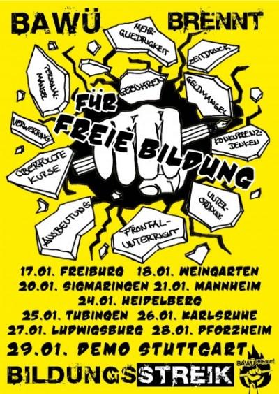 Bildungsstreik-Baden-Württemberg Januar 2011 Plakat