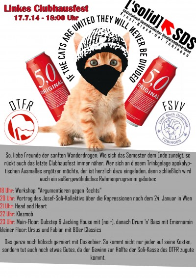 linkes Cluhausfest am 17. Juli 2014 (Flyer)
