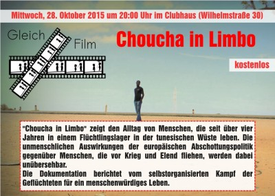 "Flyer ""Choucha in Limbo"" (vorne)"